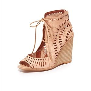 Jeffrey Campbell Rodillo Wedge Sandals in Nude